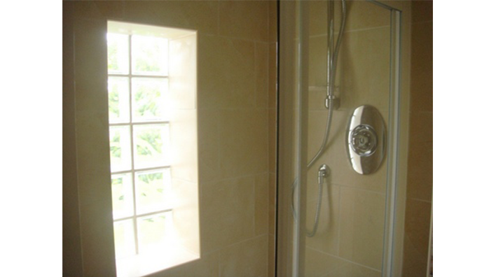 Complete Bathroom Solutions Glass Blocks and shower in ensuite